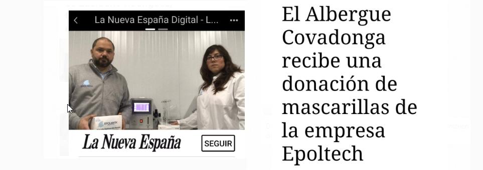 Donación al Albergue Covadonga de Gijón